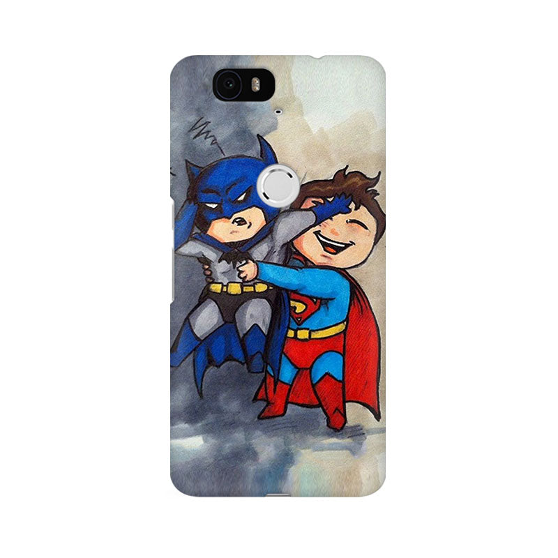 the best attitude 6c30f 6fae4 Batman And Superman Kids Huawei Nexus 6P Comic Mobile Cover