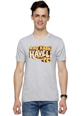 Aao Kabhi Haveli Pe Printed Graphic Men T shirt Fully Funky