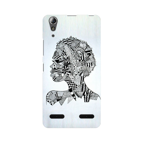 Afro Girl Doodle Lenovo A6000 Plus Abstract Mobile Cover Fully Funky