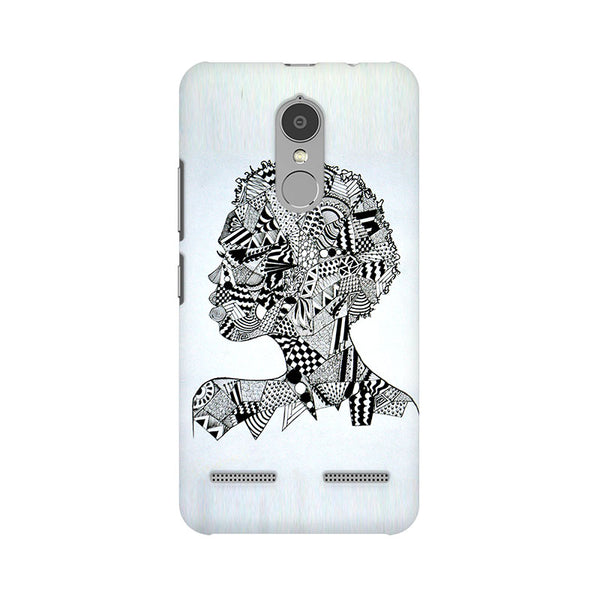 Afro Girl Doodle Lenovo K6 Power Abstract Mobile Cover Fully Funky