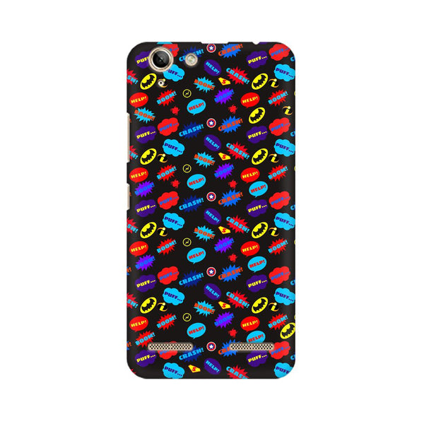 All Superheroes On Black Clipart Lenovo Vibe K5 Plus Comic Mobile Cover Fully Funky