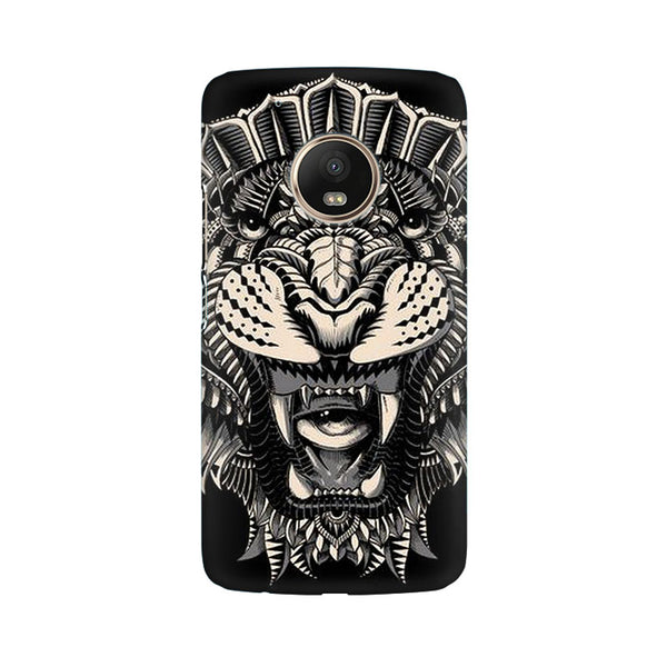 Abstract Tiger Moto G5 Animal Mobile Cover Fully Funky