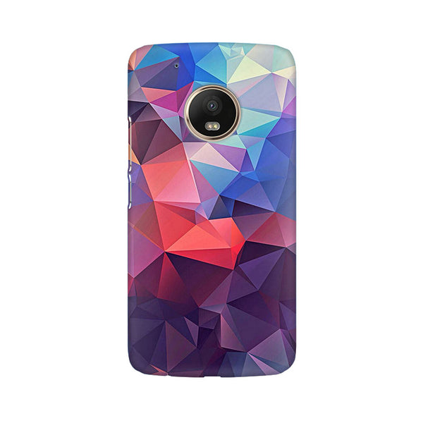 Abstract Fusion Triangle Moto G5 Plus Abstract Mobile Cover Fully Funky