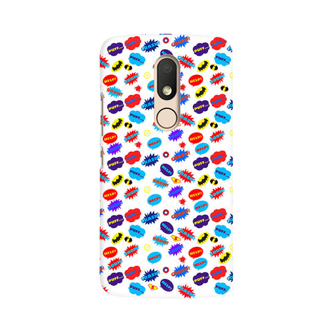 All Superheroes On White Clipart Moto M Comic Mobile Cover Fully Funky