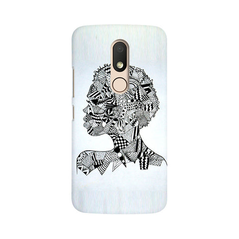 Afro Girl Doodle Moto M Abstract Mobile Cover Fully Funky
