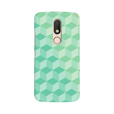 3D Cubes Moto M Abstract Mobile Cover Fully Funky