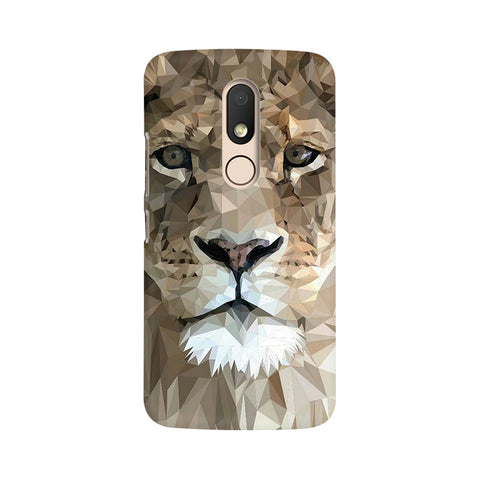 Abstract Lion Moto M Animal Mobile Cover Fully Funky