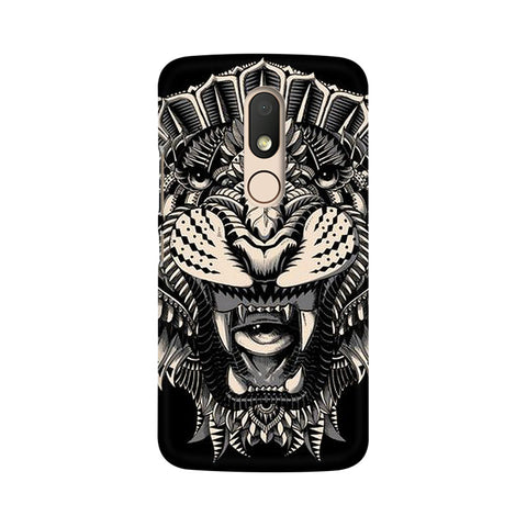 Abstract Tiger Moto M Animal Mobile Cover Fully Funky