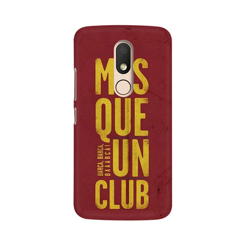 Barca Barca Moto M Sports Mobile Cover Fully Funky