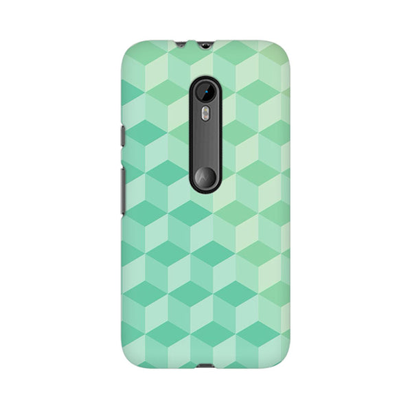 3D Cubes Moto X Play Abstract Mobile Cover Fully Funky