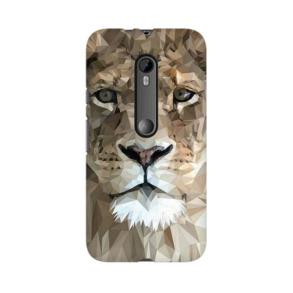Abstract Lion Moto X Style Animal Mobile Cover Fully Funky