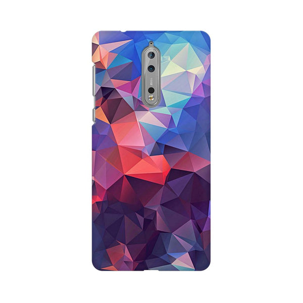 Abstract Fusion Triangle Nokia 8 Abstract Mobile Cover Fully Funky