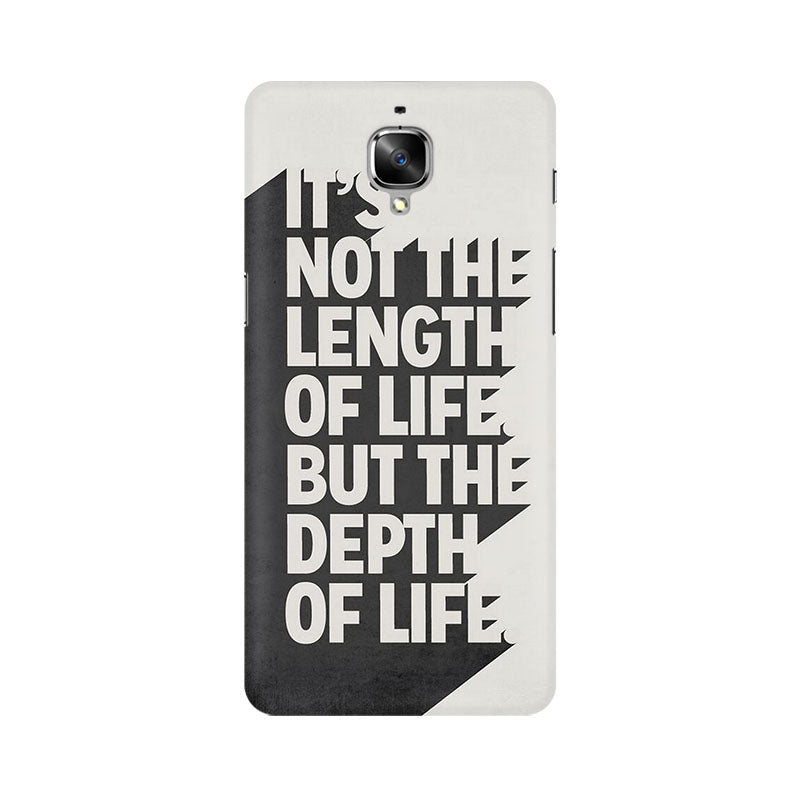 Buy Depth Of Life Oneplus 3t Quotes Mobile Cover At Fully Funky