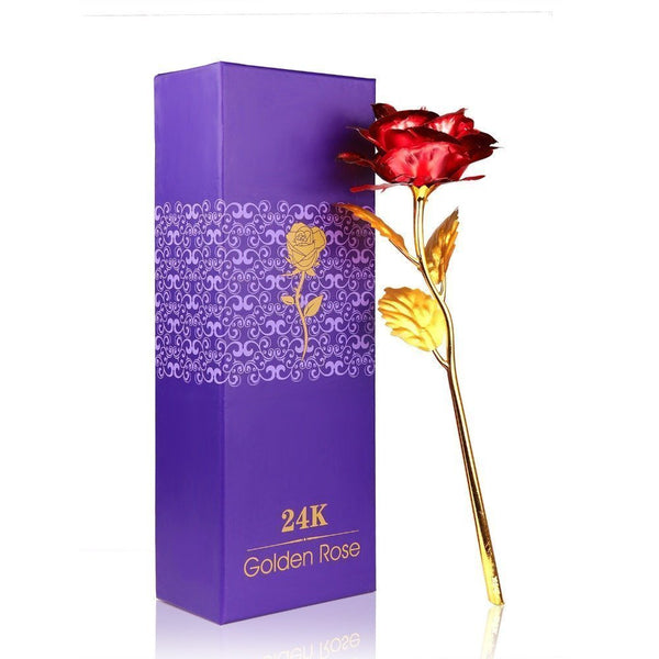 24K Gold Plated Artificial Rose With Gift Box Fully Funky