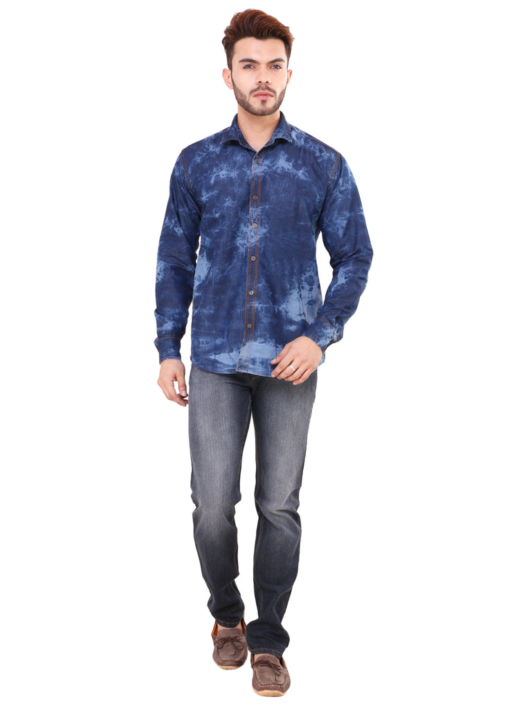 914f116c16e Buy Blue Denim Shirt for Men at Fully Funky
