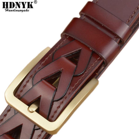 100% Genuine Leather Fashion Designer Belt For Men Fully Funky