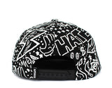 Balck and White Doodle print Baseball Hip Hop Cap Fully Funky