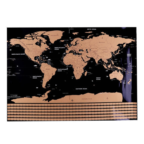 1 Pc Scratch Map Personalized  World Scratch Map Mini Creative Scratch Off Word Map Fully Funky