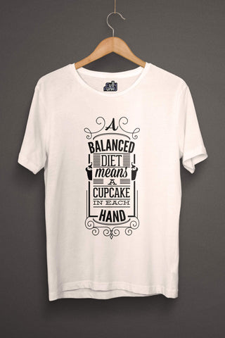A Balance Diet Means Printed Men T-shirt Fully Funky