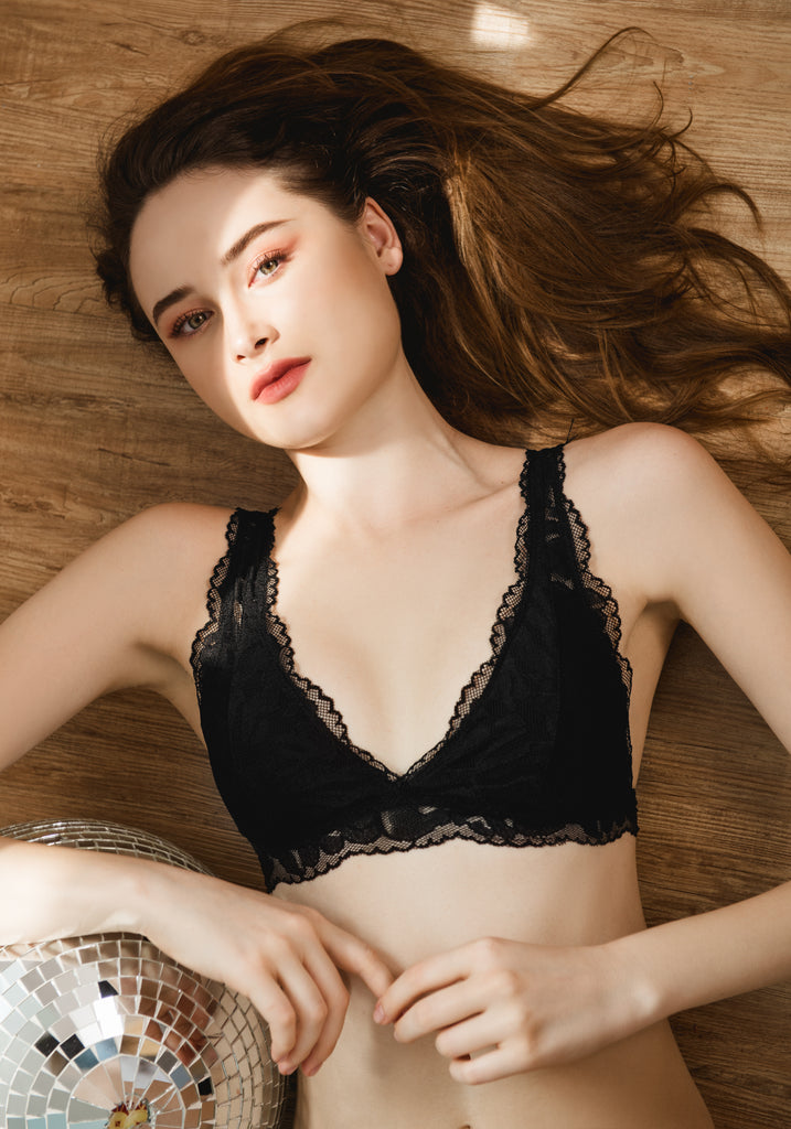 Allie in Lace Bralette in Black - Reverie | reveriestudio.co