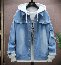 Load image into Gallery viewer, Eastern street x ancient graffiti denim jacket