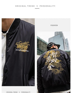 Dragon declaration bomber jacket