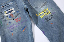 Load image into Gallery viewer, SMILE graffiti jeans