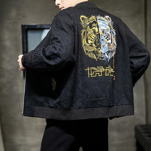 2 face tiger bomber jacket