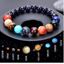 Load image into Gallery viewer, Celestial planets buddha bead bracelet