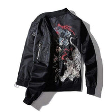 Load image into Gallery viewer, Dragon fiery tiger roar bomber jacket