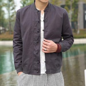 Solid Tang Dynasty bomber jacket