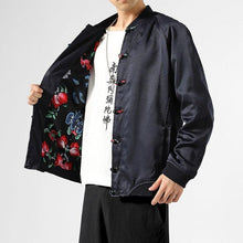 Load image into Gallery viewer, Rose lined Tang Dynasty jacket