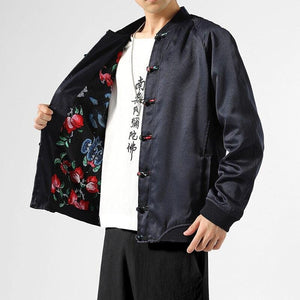 Rose lined Tang Dynasty jacket
