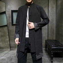 Load image into Gallery viewer, Silhouette wave long trench coat jacket