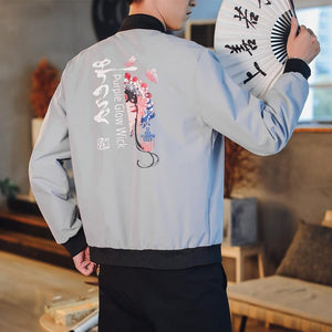 Peking opera bomber jacket