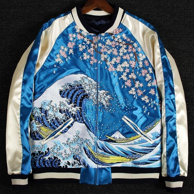Hyper premium 2 sided wave sakura sukajan jacket