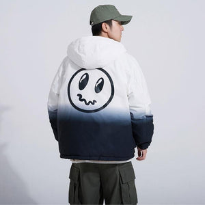 Worried face thermal jacket