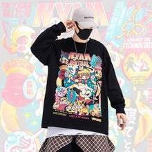 Load image into Gallery viewer, Nyan cat girl long sleeve T-shirt