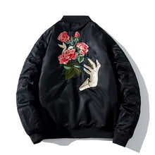Load image into Gallery viewer, Rose hand bomber jacket