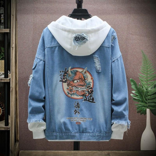Eastern street x ancient graffiti denim jacket