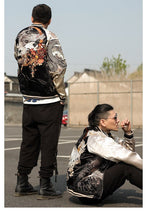 Load image into Gallery viewer, Hyper premium rising phoenix eastern tiger sukajan jacket
