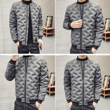 Load image into Gallery viewer, Classic pattern puffy bomber jacket