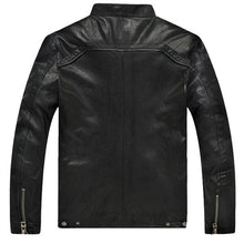 Load image into Gallery viewer, Genuine sheepskin skin motorcycle jacket