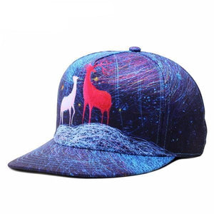 Deer in the night baseball cap