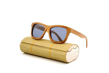 Load image into Gallery viewer, Polarized vintage wooden framed sunglasses unisex