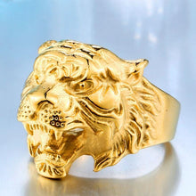 Load image into Gallery viewer, Fierce titanium tiger head alloy ring