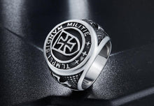 Load image into Gallery viewer, Vintage stainless steel templar knight ring