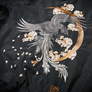 Chinese mythical bird bomber jacket
