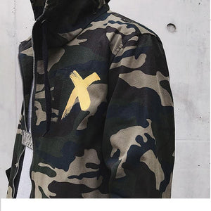 Urban X camo trench coat