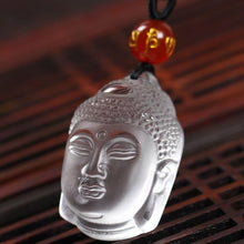 Load image into Gallery viewer, Buddha head clear frost necklace